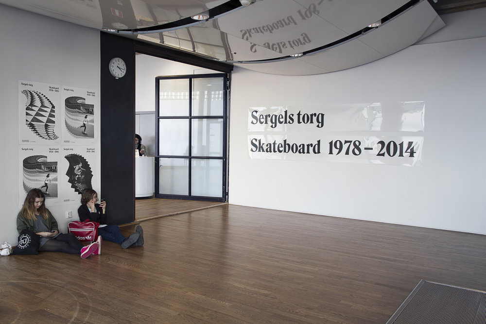 Visual identity for the exhibition  Sergels Torg: Skateboard 1978–2014  at  Kulturhuset  in Stockholm. Collaboration with  Oskar Laurin