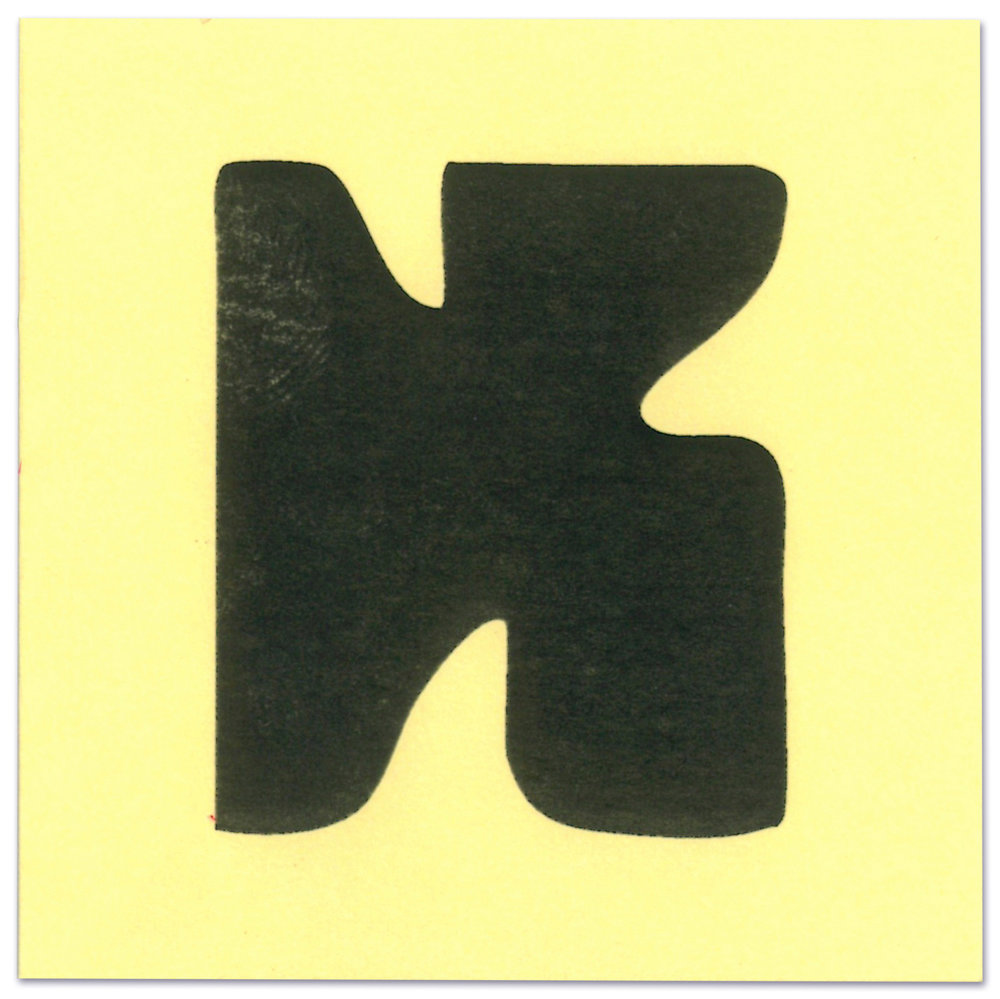 Blubby lettershape