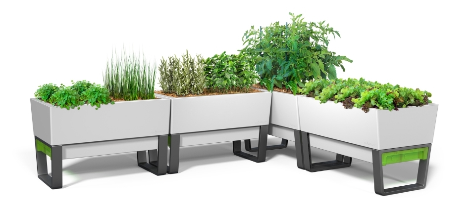 Self watering planters - self water pots - white planters - white pots - white planter boxes