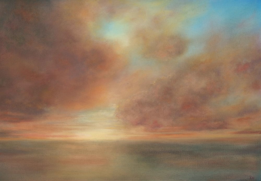In haze of drifting gold (Sold)