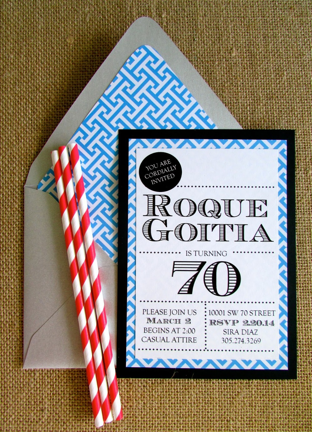 70th birthday invitation roque goitia iba paper goods