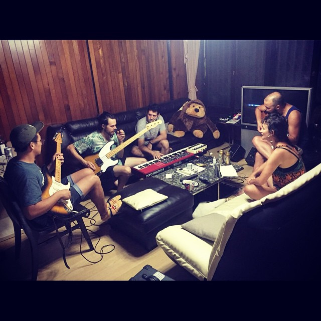 Friday night's jam. New material underway! #newbluedeath #bandjam #seoul
