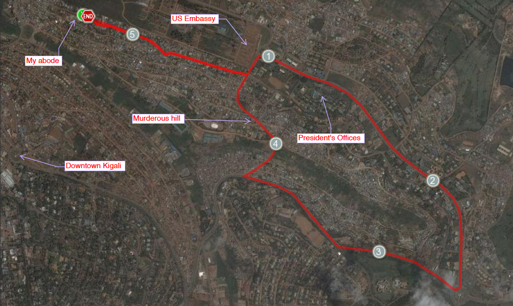 Kigali Run - Satellite View