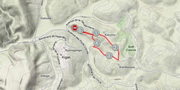 Kigali Run - terrain