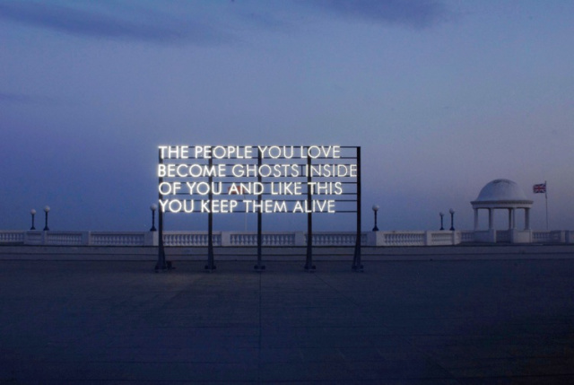 Robert Montgomery, part of  Words in the City at Night  project, 2016