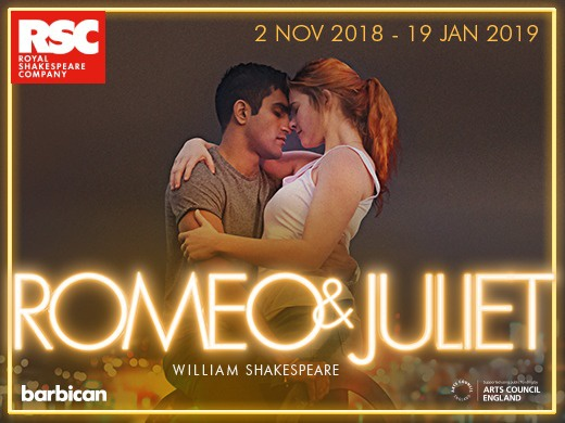 ROMEO AND JULIET - Romeo and Juliet will play at the Barbican between 2nd Nov 2018 and 19th Jan 2019!