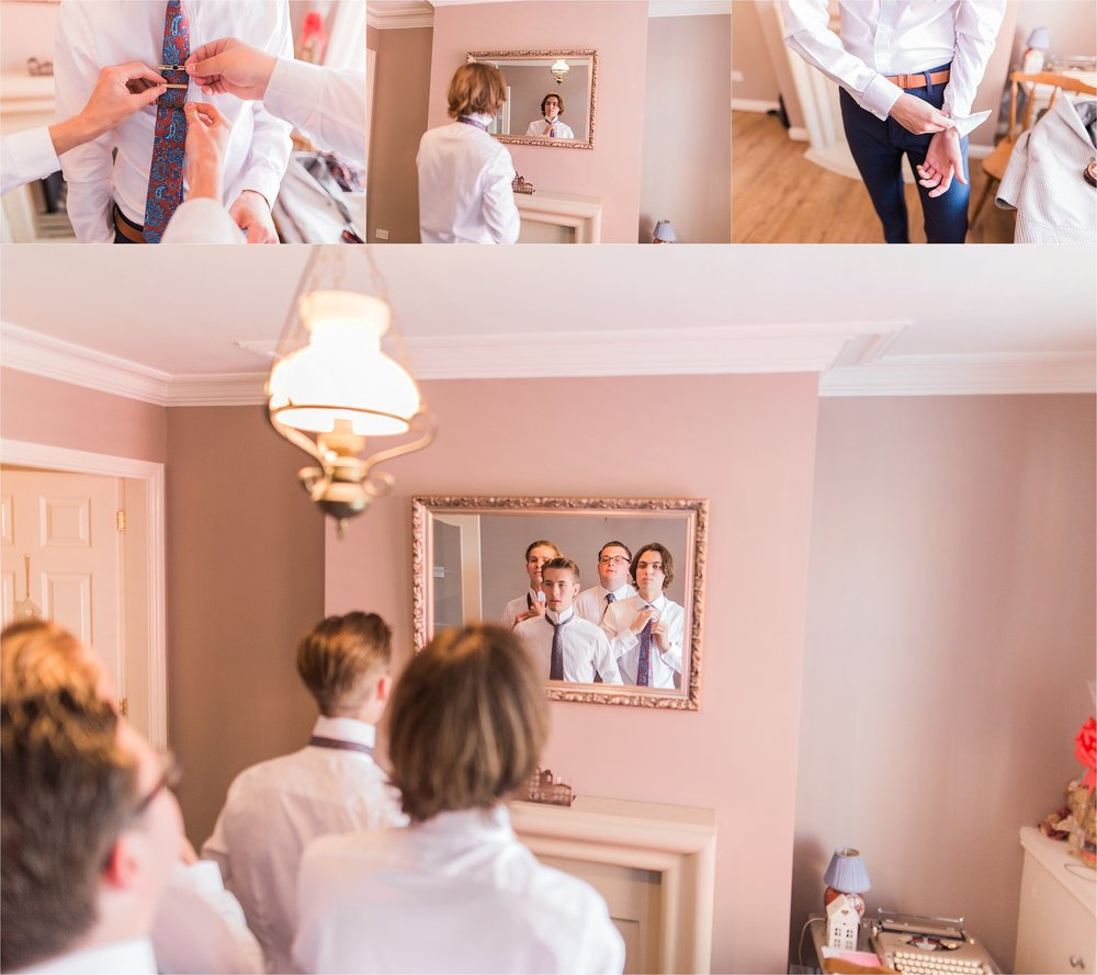 Over at Annabelle and Patrick's beautiful new home, Jamie captured the Groom and his Groomsmen getting ready.