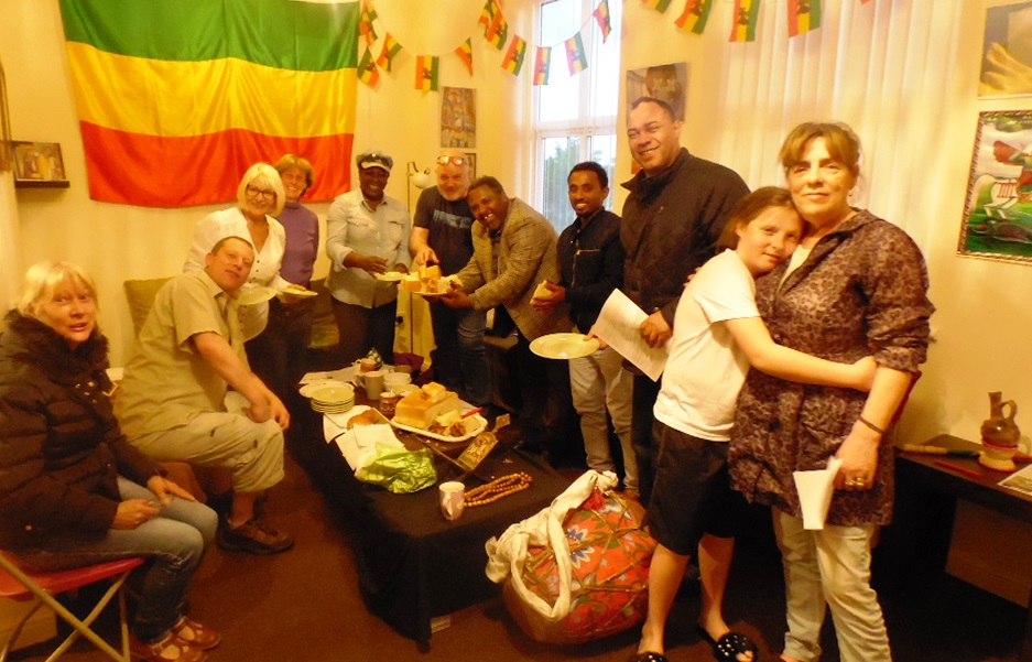 - Ethiopian Cultural Evening - Wednesday 3rd May: Father Birhani and Deacon Dagmawi reveal the mysteries of the Begena (sacred drum) and teach us a traditional song of praise.  Afterwards we shared delicious ambasha bread freshly baked by Fr Birhani's wife.  Igziabhir yemesgen!
