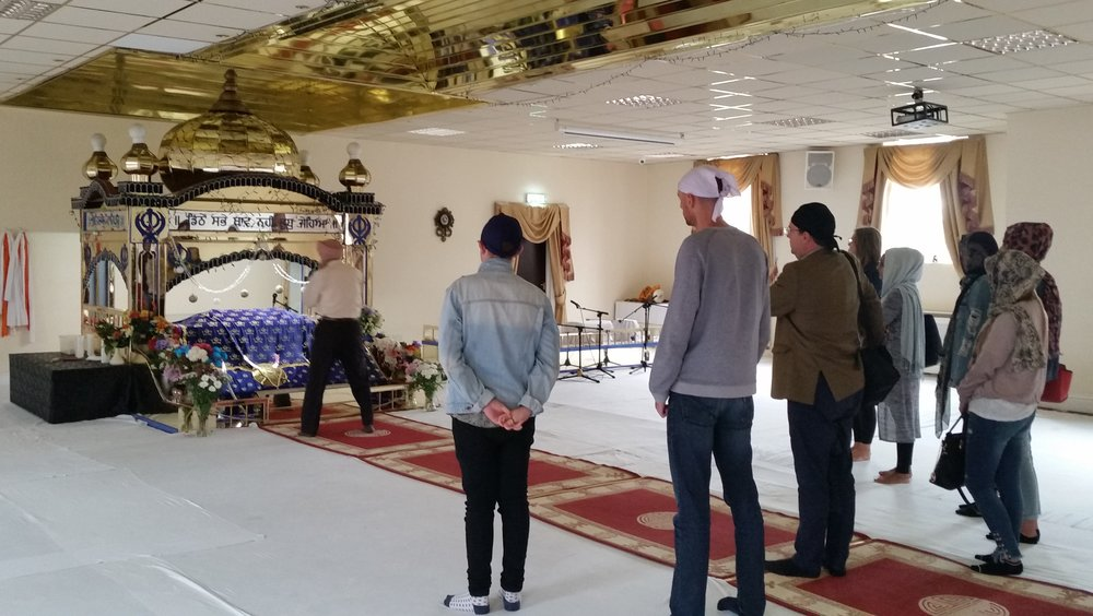 Visiting the Sikh Gurdwara