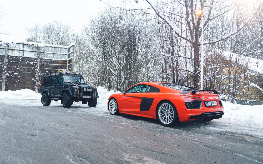 Audi R8 V10+ Snow