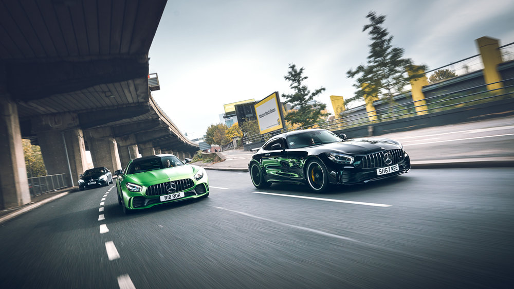 Nico Rosberg and Shmee150 in the AMG GTR