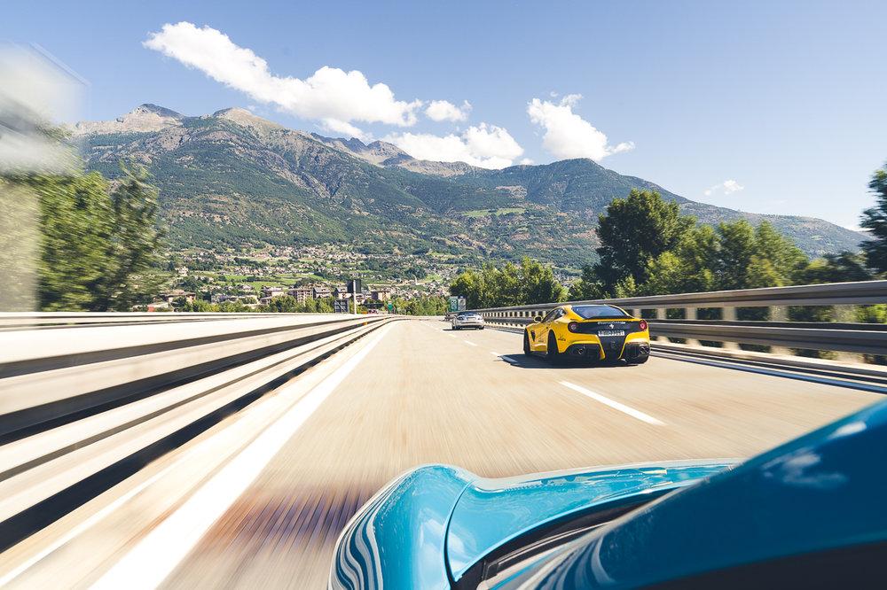 F12, Porsche GT3 and SLR