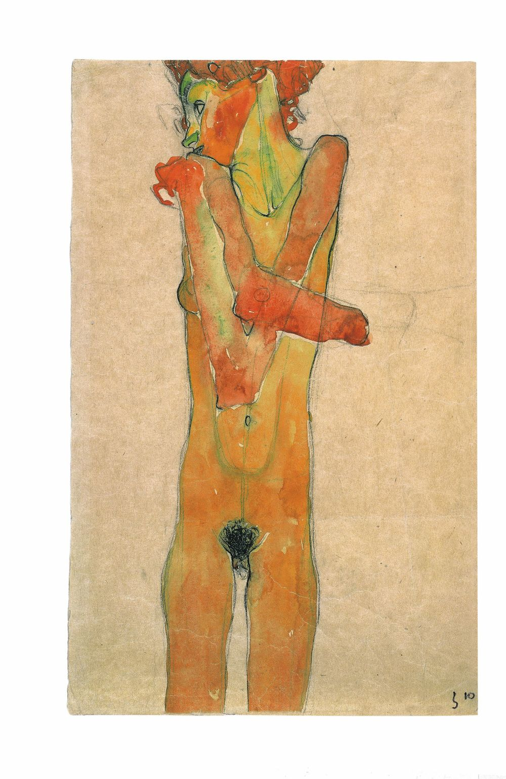 5. Nude Girl with Crossed Arms (Gerti Schiele)