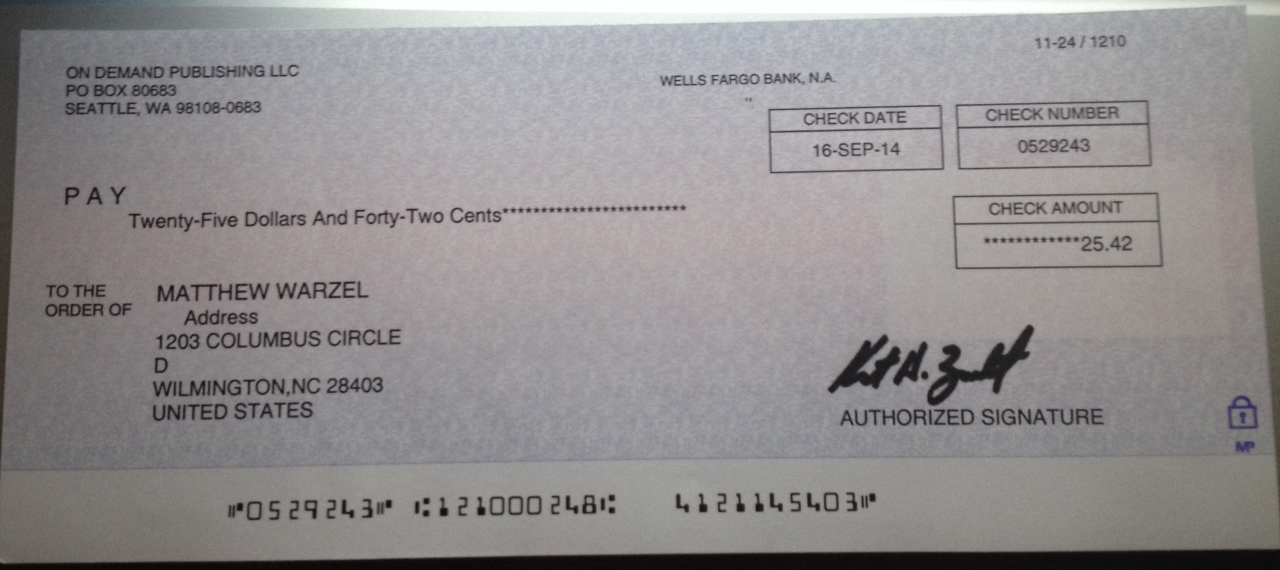 """Proud moment for MJW Careers, LLC. Our President received his first residual check for his published book """"How to Get UnUnemployed: An A-to-Z Guide on Finding a Career You Like: Crackerjack Insight from a Human Resources Recruiter"""" Book Link: http://www.amazon.com/How-Get-UnUnemployed-Crackerjack-Resources/dp/1496142594/ref=sr_1_1?ie=UTF8&qid=1412092179&sr=8-1&keywords=ununemployed"""