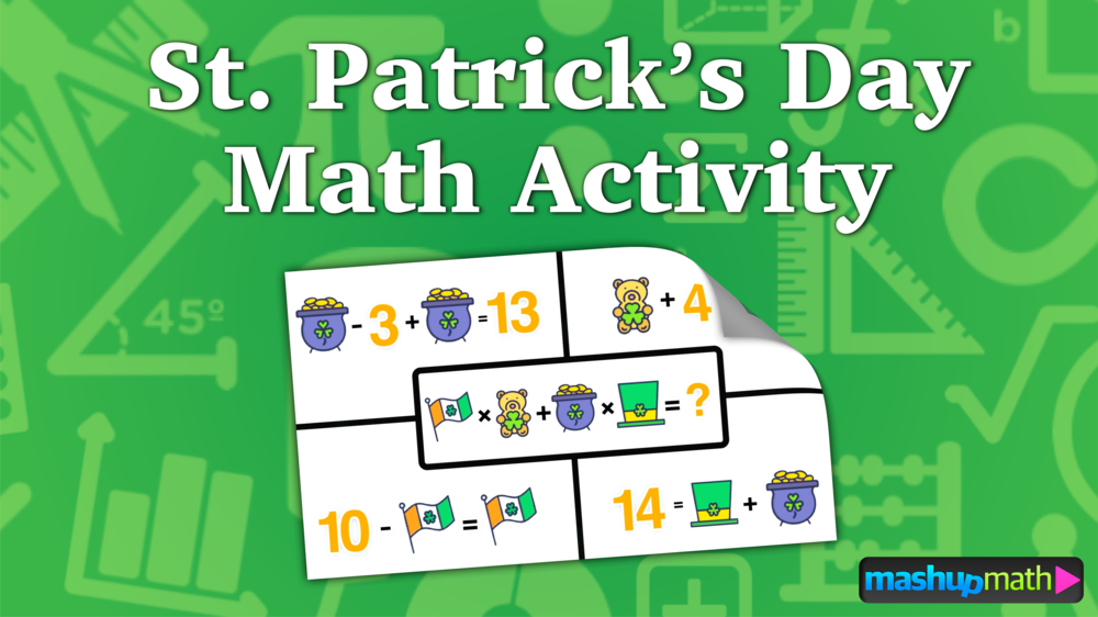 St. Patrick\'s Day Math Activity for Kids — Mashup Math