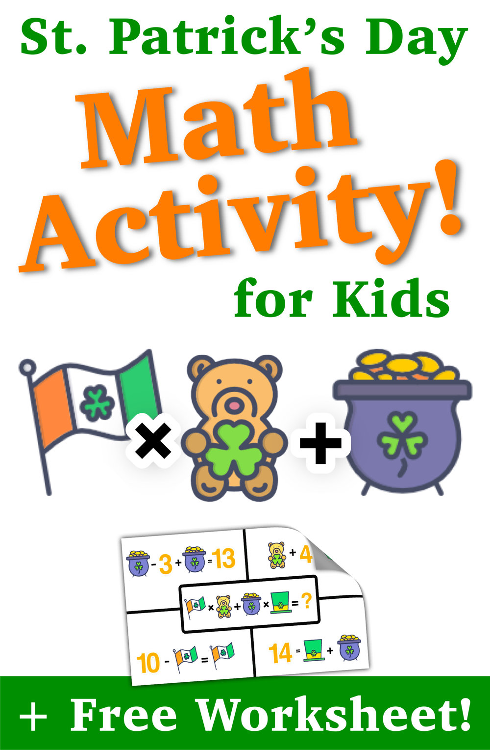 St. Patrick\'s Day Math Activity for Kids — Mashup Math