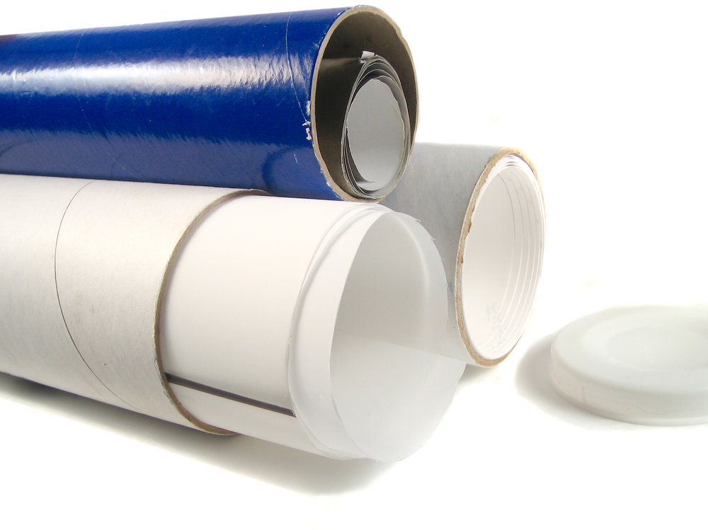 Packing tubes will keep your posters, banners, and signs from getting crumpled and bent.