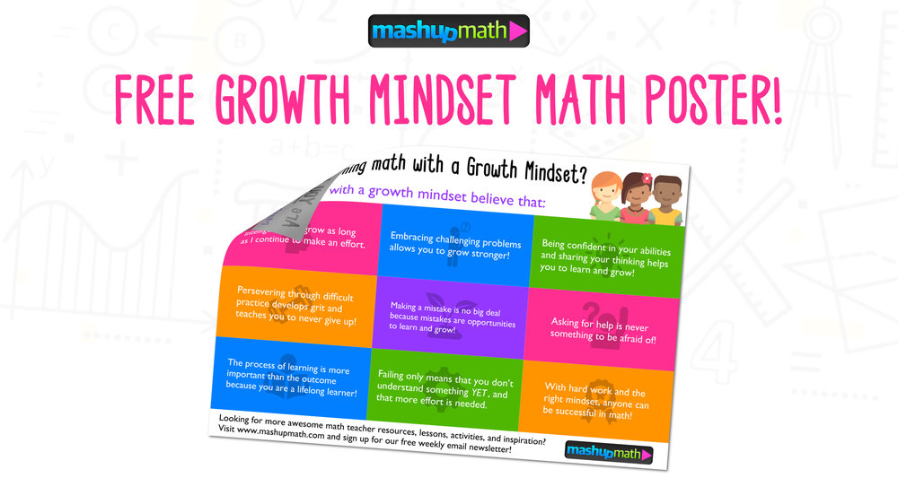 Get Your Free Growth Mindset Math Poster: Middle School — Mashup Math