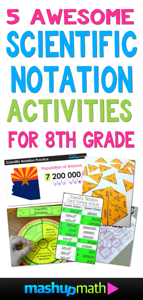 5 Awesome 8th Grade Scientific Notation Activities — Mashup Math