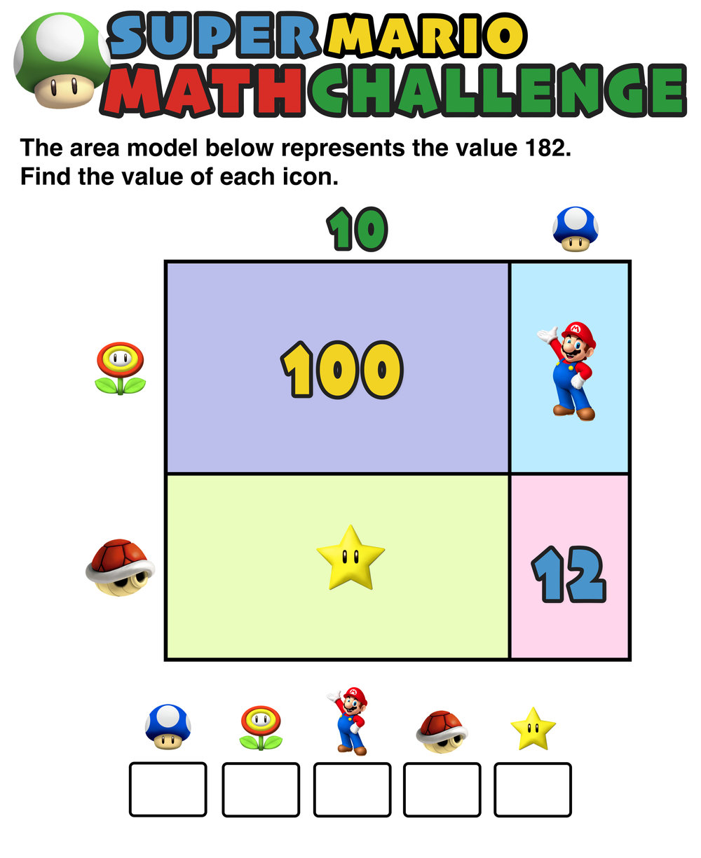 Have You Seen These Free Super Mario Math Puzzles Mashup Math