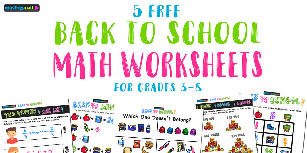 Here Are The Only Free Back to School Math Worksheets You'll Ever ...