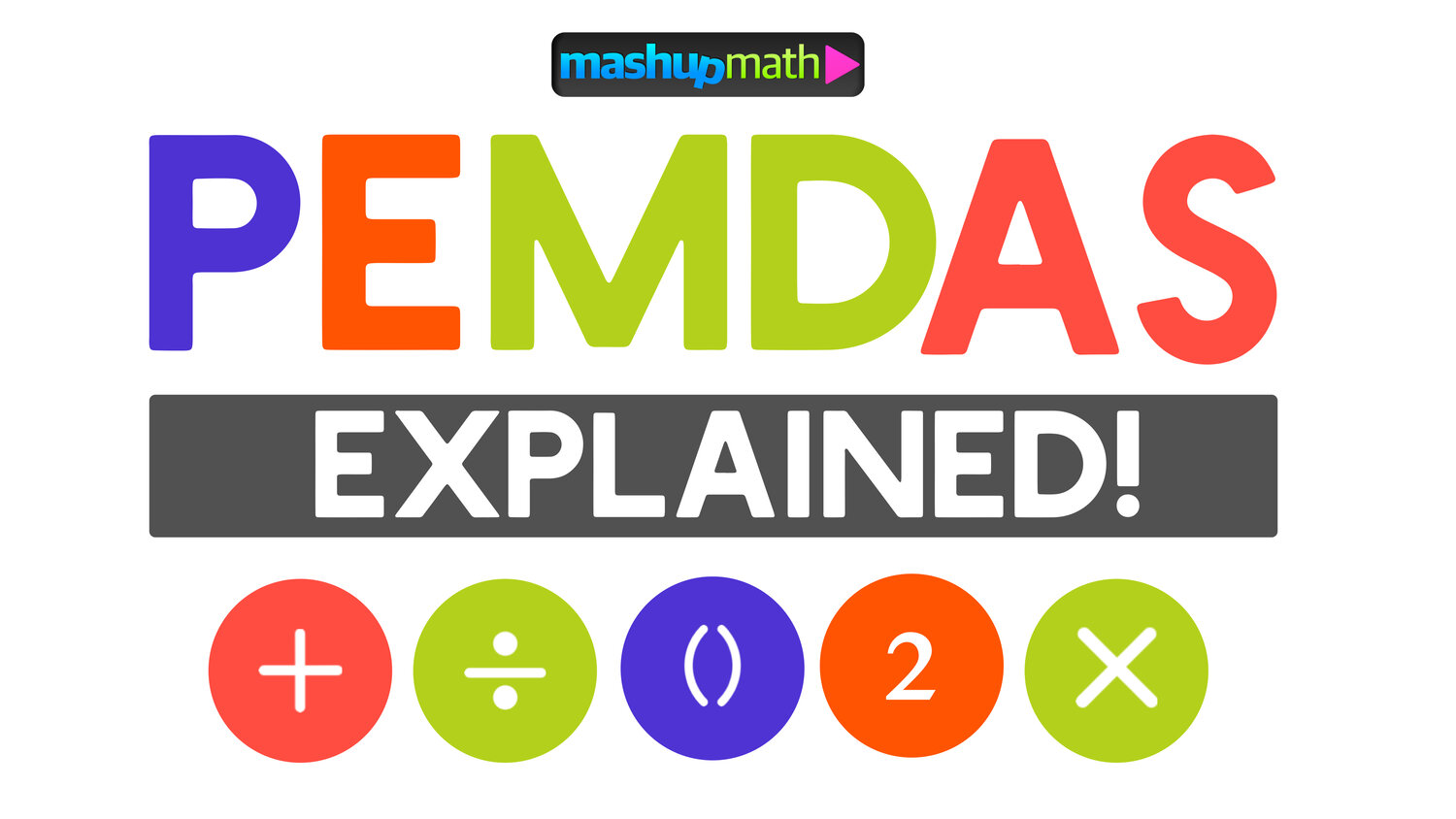 PEMDAS Meaning Explained with Examples — Mashup Math