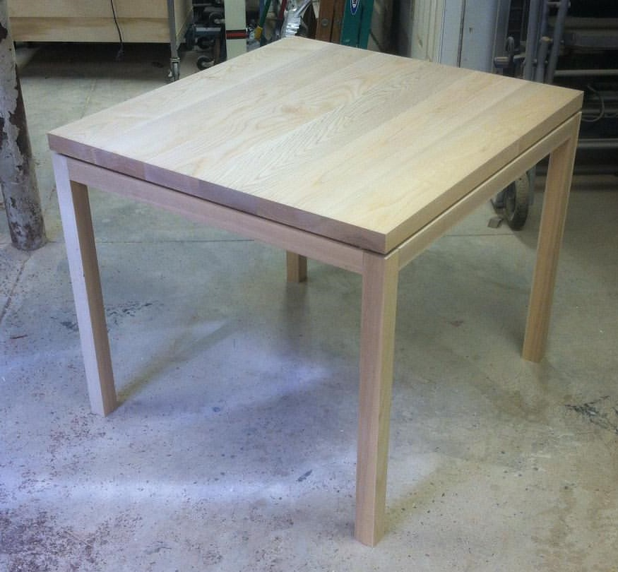 Parsons table for the tasting room.