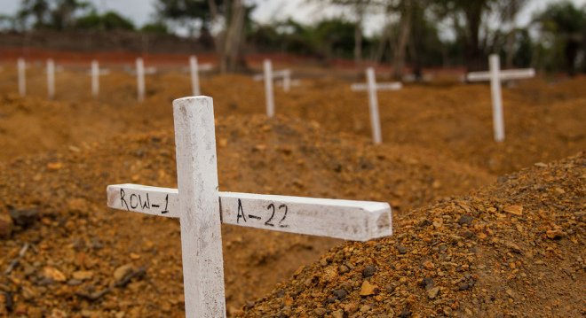 A cemetery established in Liberia by the United Nations Mission for Emergency Ebola Response (UNMEER), Flickr