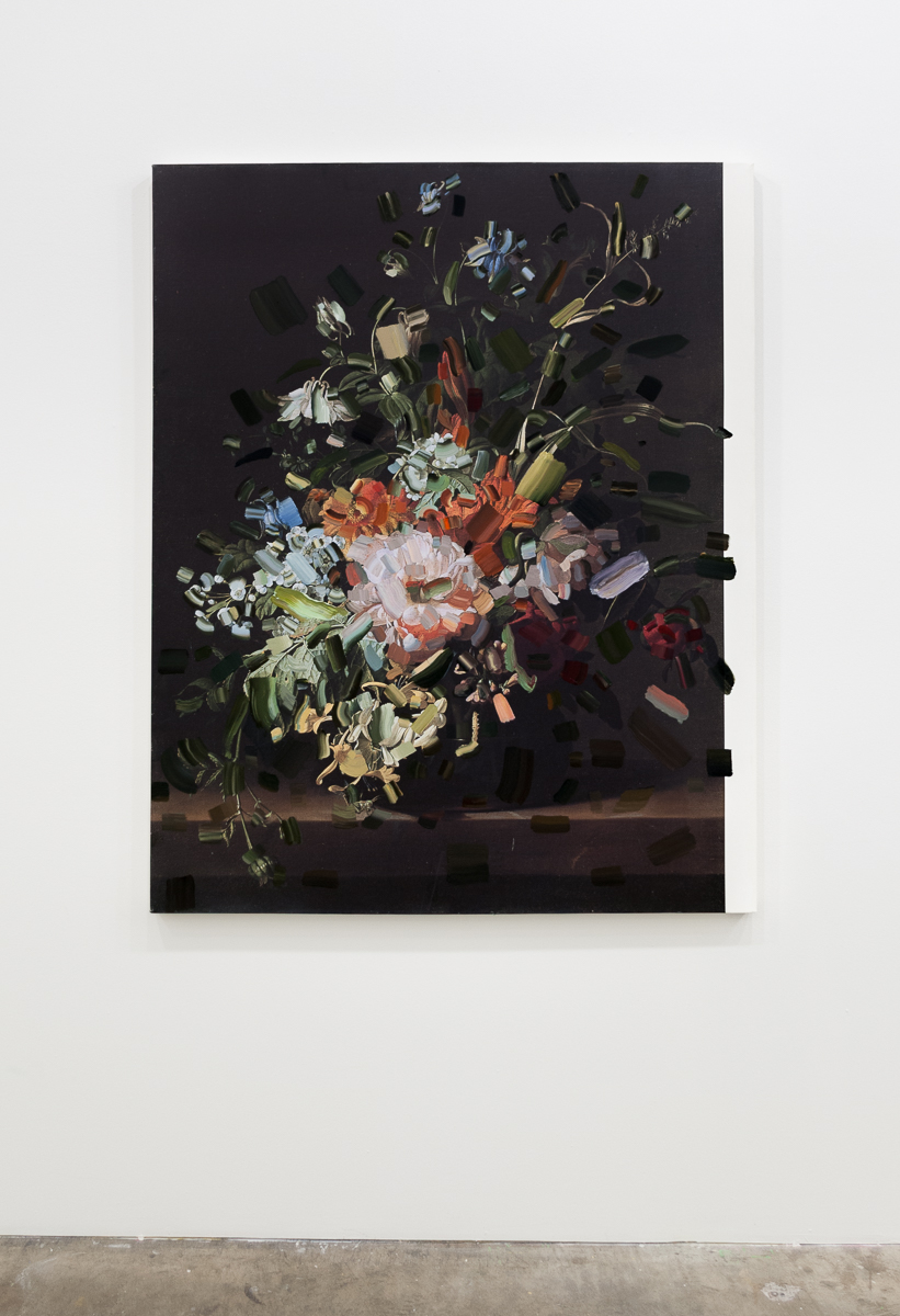 Tiffany Calvert  Untitled #268    oil on digital print 48x60 inches 2015