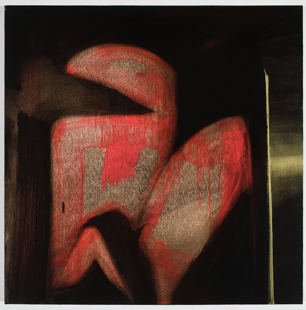 Grant Hottle   Stolen Kiss    Oil on canvas    23 x 23 inches    2015