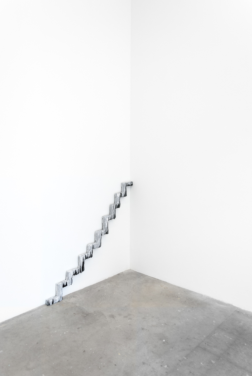 David Corbett  Natural Steps  Paint, glue and wood 44 x 41 x 3 inches 2016