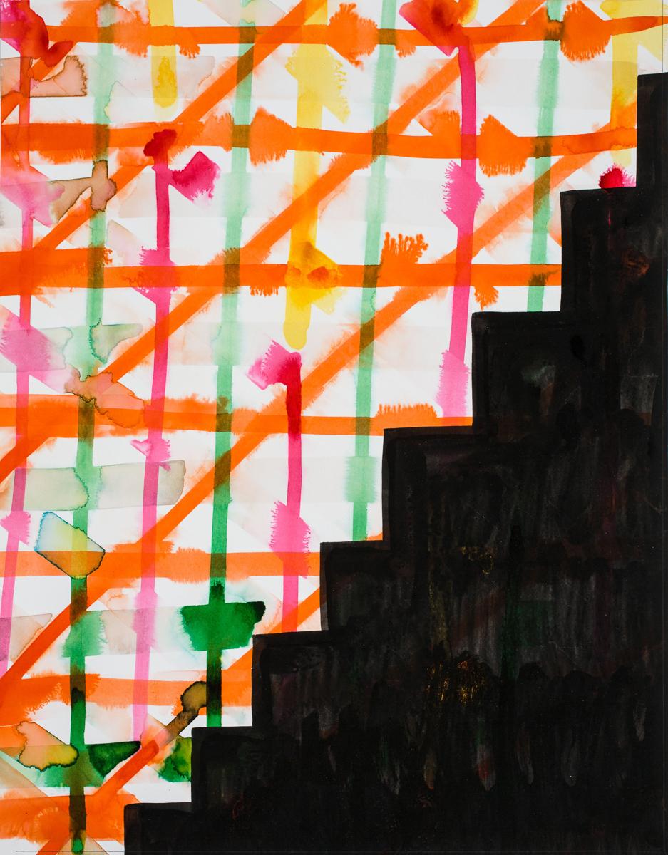 David Corbett  Risers 5  Ink, paper 18 x 14 inches 2015