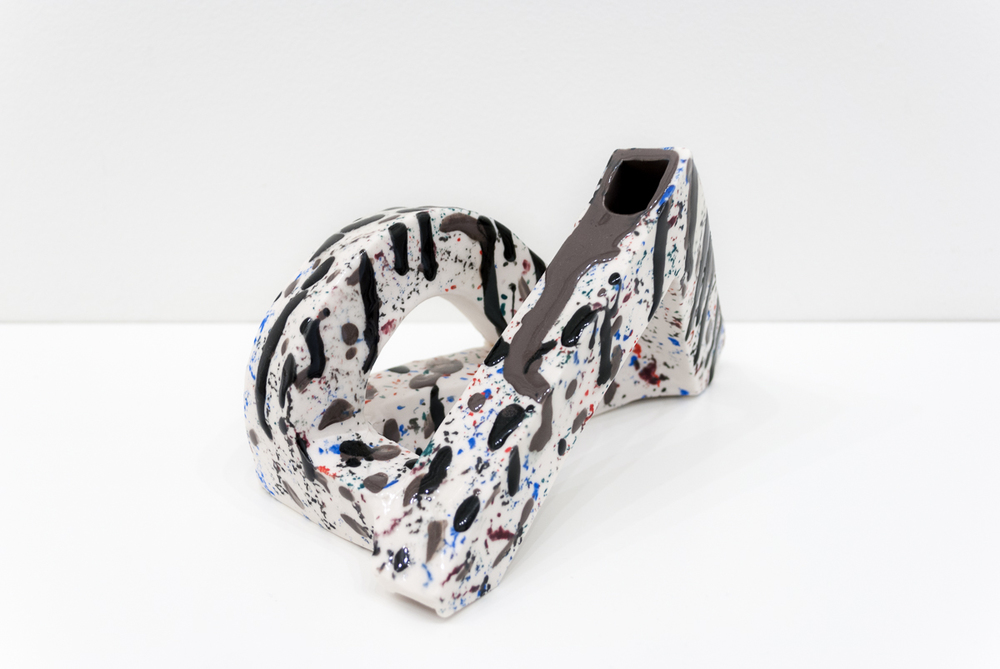 Emily Counts  Loudly   2016 7 x 4 x 7 inches Glazed Porcelain