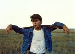 Martin Sheen in Terrence Malick's film  Badlands , which tells the story of serial-killer and is said to be part of the inspiration for Bruce Springsteen's album  Nebraska .  Image via  bloomberg.com .