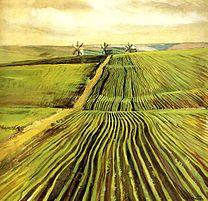 The Shoots of Autumn Crops , 1907, by Zinaida Serebriakova. Image via wikipedia.org.