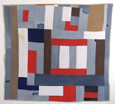 """Strip Quilt"" by Mary Lee Bendolph.  Image via  artsy.net ."