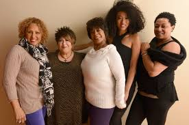 Some of the great singers featured in  20 Feet from Stardom . From left: Darlene Love, Tata Vega, Merry Clayton, Judith Hill, and Lisa Fischer.  Image via  billboard.com .