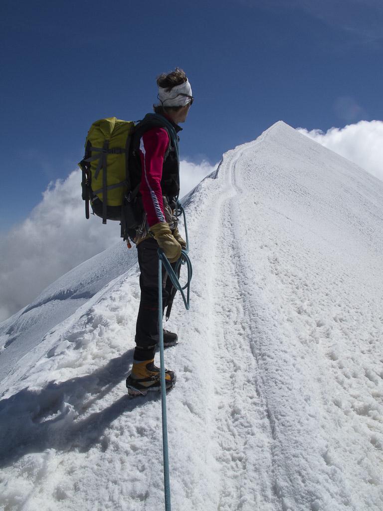 Aresta final, para o cume do Mont Blanc. Foto de David. Todos os Direitos Reservados.