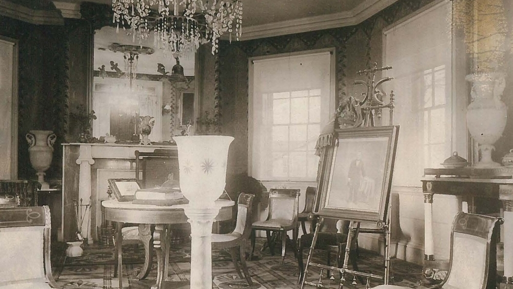 The Octagon Room, circa 1887.