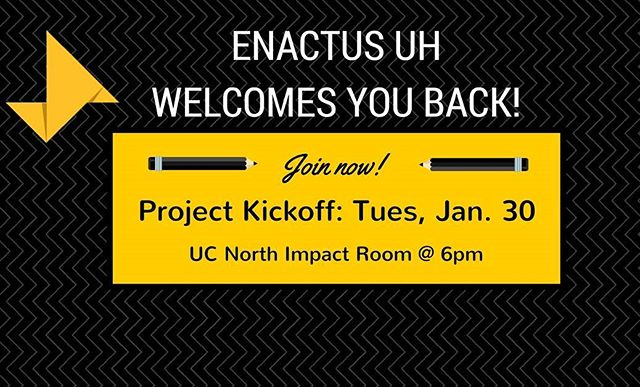 Project Kickoff is TODAY! Learn about what we can do for YOU and projects we have this semester. Earn a trip to Dallas and Kansas City this semester representing UH at Regionals and Nationals Exposition. Free food and drinks. Open to all majors. Oh, and win a cacti!! #project #cacti #school #enactususa #competition