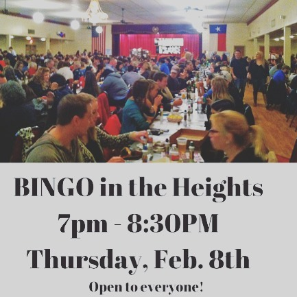 Come join us for Bingo Night Tomorrow Night at the Heights! #WeAllWin #butnotreallytho