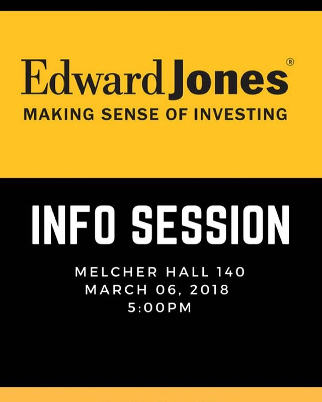 Edward Jones stopping by on Tuesday! Come on down and see what the fuss is all about #financialfreedom #Kappa123
