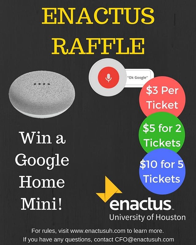 Win a Google Home Mini by entering our raffle until Tuesday, April 10th @5pm! Buy tickets from any of our officers or from our CFO @theemilytran Remember, we all win (just not this one). #raffle #google #googlehomemini #win #prize
