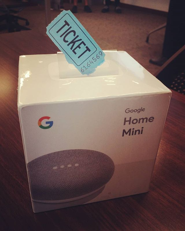 Congratulations to Michael Resondez, the winner of our Google Home Mini! Thank you to those who participated. Stay in tune for our next raffle next semester!  #raffle #higoogle #win #googlehomemini #everybodywins