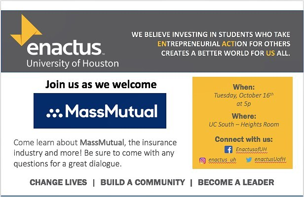 Join us tomorrow at 5p as we welcome MassMutual! See you in UC-South, Heights Room.