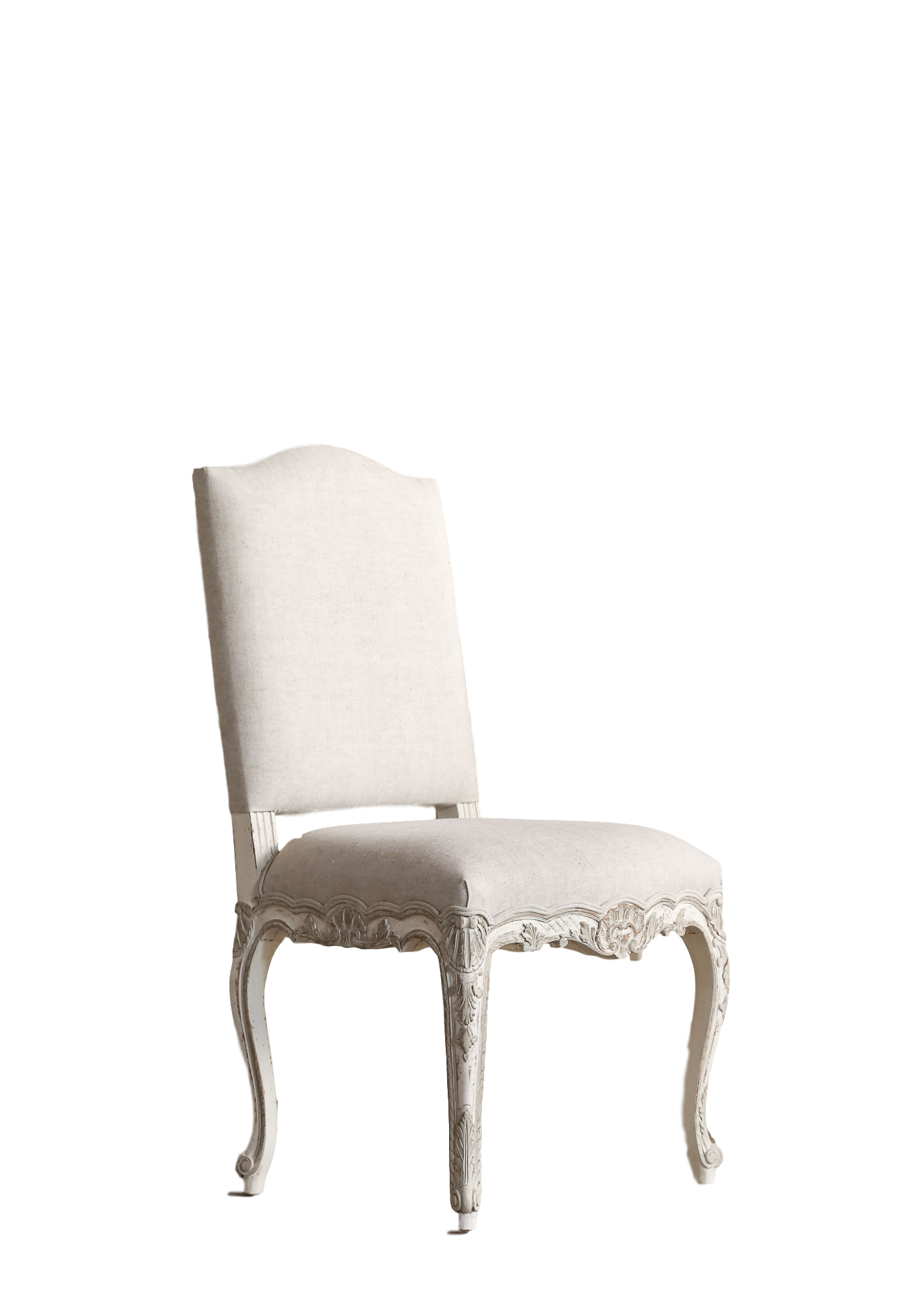 42H X 21W 22D Provence Dining Chair In Lightly Distressed Gesso And Oyster Highlight Finish