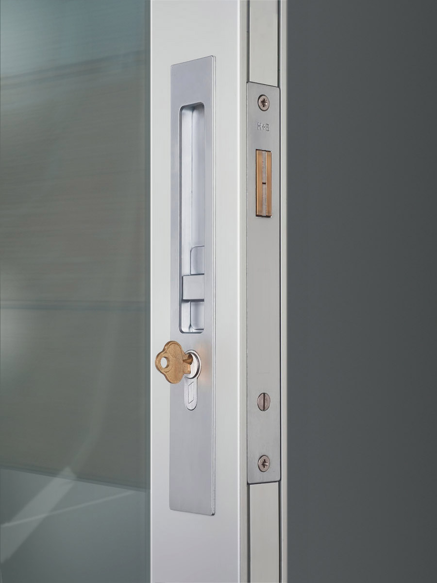 HB 640 : Narrow Backset Sliding Door Entry Lock