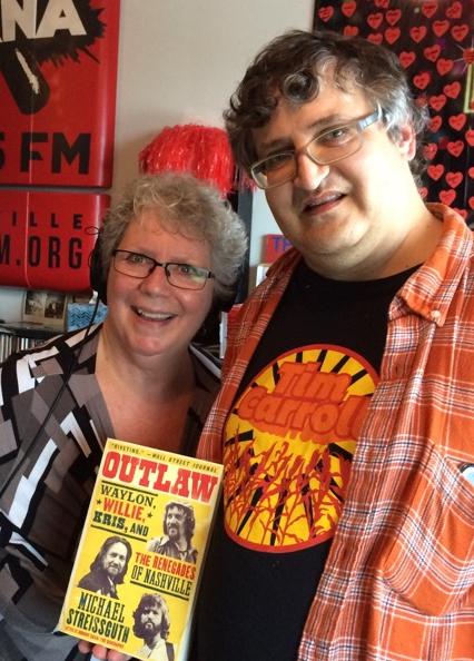 Joe Wolfe-Mazeres &Sue HavlishDouble Shot with Joe and SueSaturdays, 11 AM –1 PMOutlaw: Waylon, Willie, Kris, and the Renegades of NashvilleMichael StreissguthIt Books -