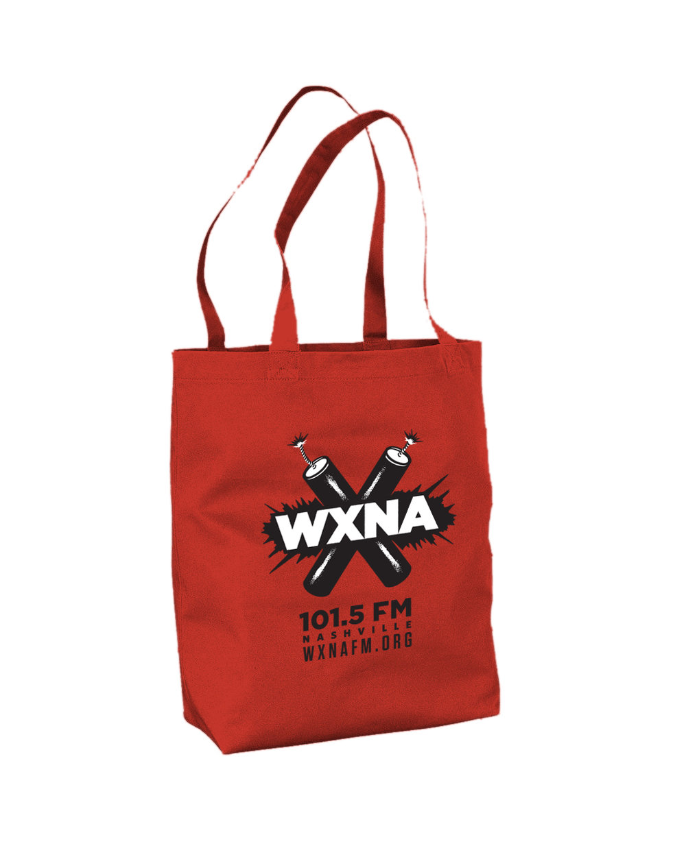 Donate $101.5 or more and we'll send you a fabulous red WXNA tote bag. Divide your donation into 12 monthly installments, and that's only $8.46 per month to support your favorite freeform community radio station! - Plus you'll receive our new beverage huggie and awesome limited-edition sticker!