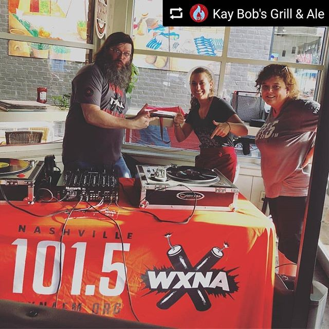 #FastRepost from @Kay Bob's Grill & Ale by @fastrepost_app ••• Yay! It's @wxnafm Night! Come out to support our favorite local Nashville radio, now until we close.